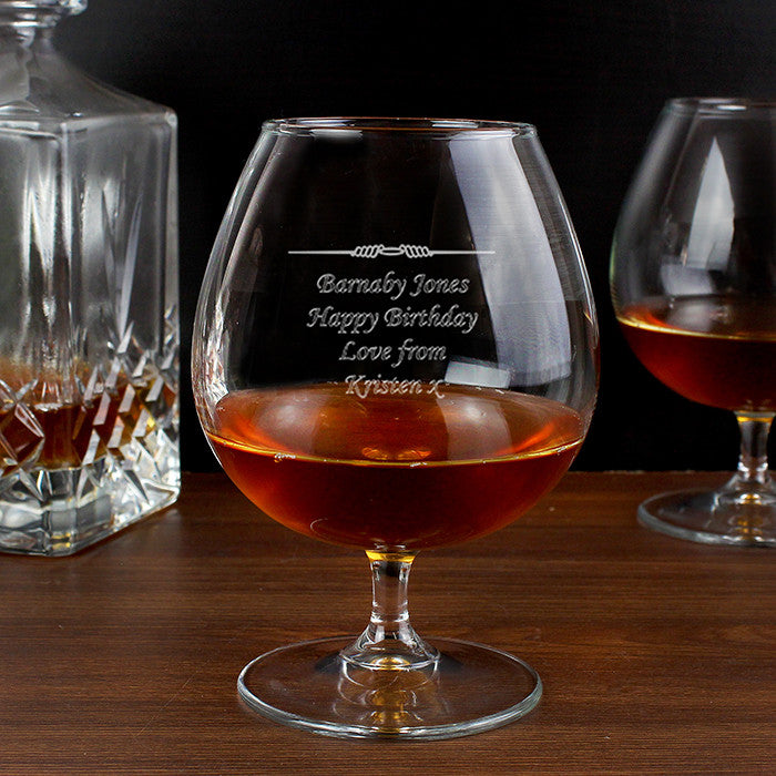 Buy Personalised Decorative Brandy Glass