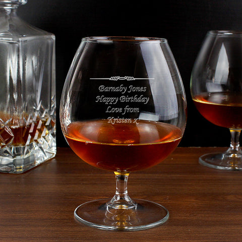 Personalised Decorative Brandy Glass | ShaneToddGifts.co.uk