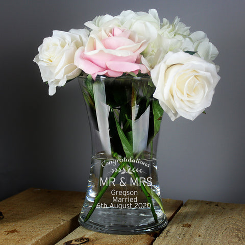 Personalised Classic Glass Vase - Shane Todd Gifts UK
