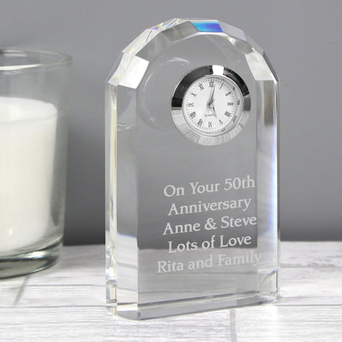 Buy Personalised Crystal Clock