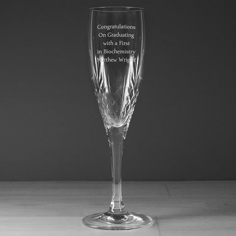 Buy Personalised Crystal Champagne Flute