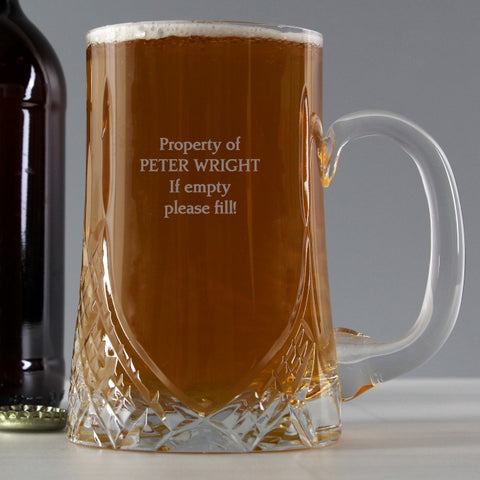 Personalised Pint Crystal Tankard