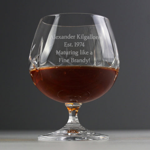 Buy Personalised Crystal Small Brandy Glass
