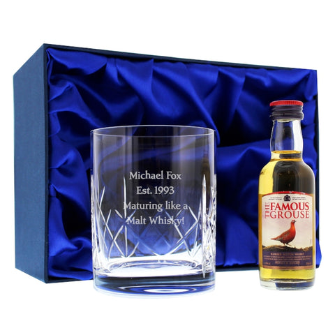Personalised Crystal & Whisky Gift Set | ShaneToddGifts.co.uk