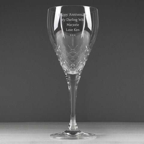 Buy Personalised Crystal Wine Goblet