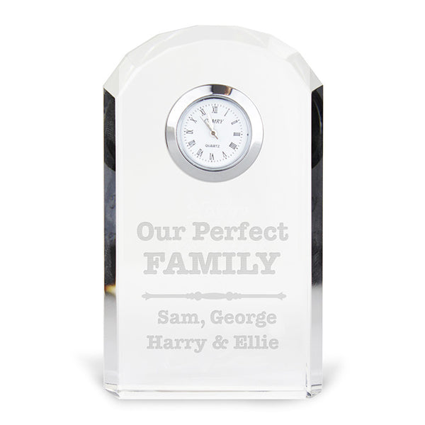personalised-scroll-design-crystal-clock