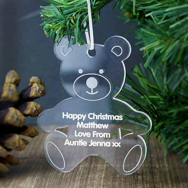 personalised-acrylic-teddy-bear-decoration