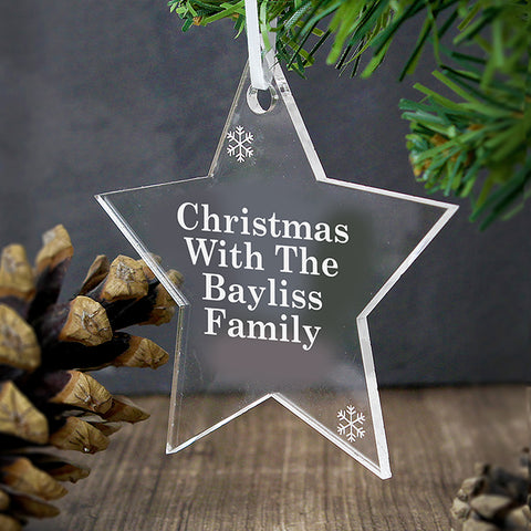 Buy Personalised Acrylic Star Decoration