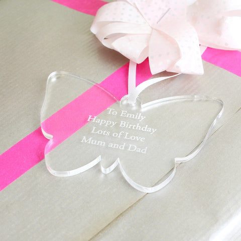 Personalised Acrylic Butterfly Decoration - Shane Todd Gifts UK