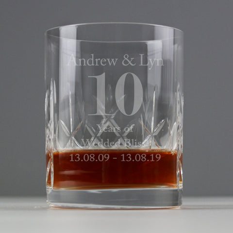 Buy Personalised Big Age Cut Crystal Whisky Tumbler