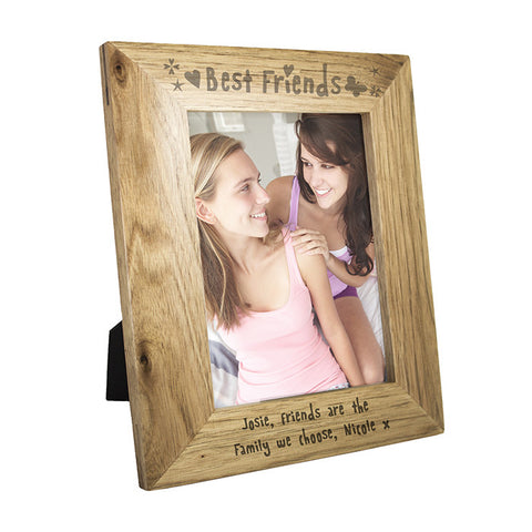 Personalised 5x7 Best Friends Wooden Photo Frame - Shane Todd Gifts UK
