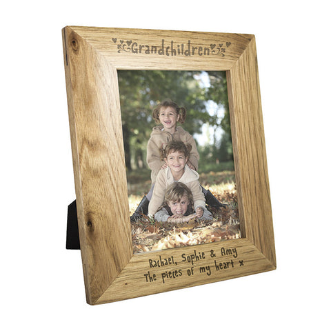 Personalised 5x7 Grandchildren Wooden Photo Frame - Shane Todd Gifts UK