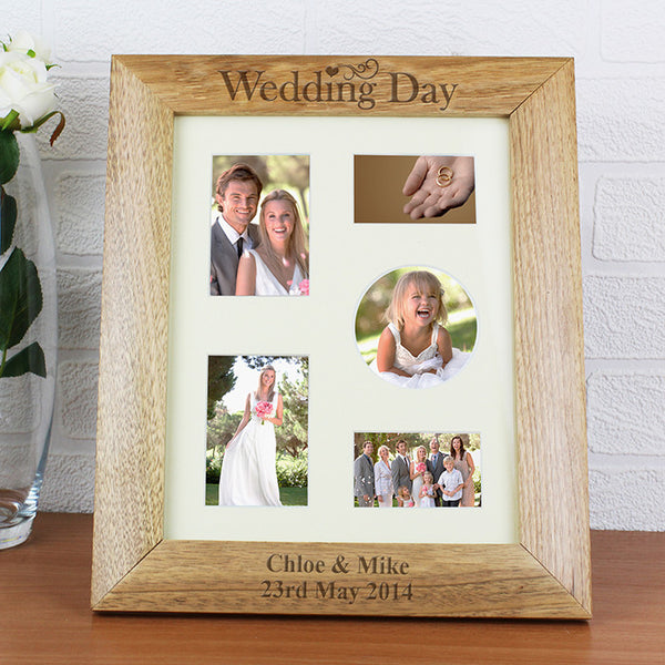 Personalised Wedding Day 8x10 Wooden Photo Frame