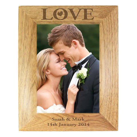 Personalised Love 5x7 Wooden Photo Frame | ShaneToddGifts.co.uk
