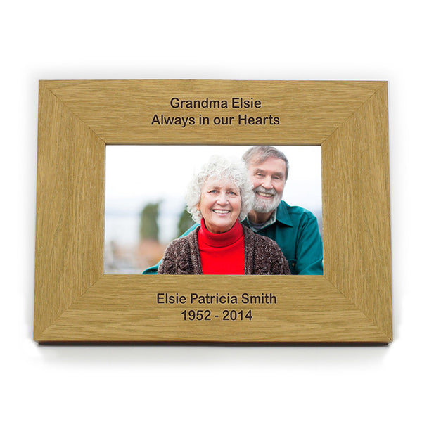 personalised-oak-finish-6x4-landscape-photo-frame-long-message
