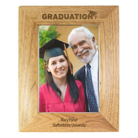 Personalised 5x7 Graduation Wooden Photo Frame - Shane Todd Gifts UK