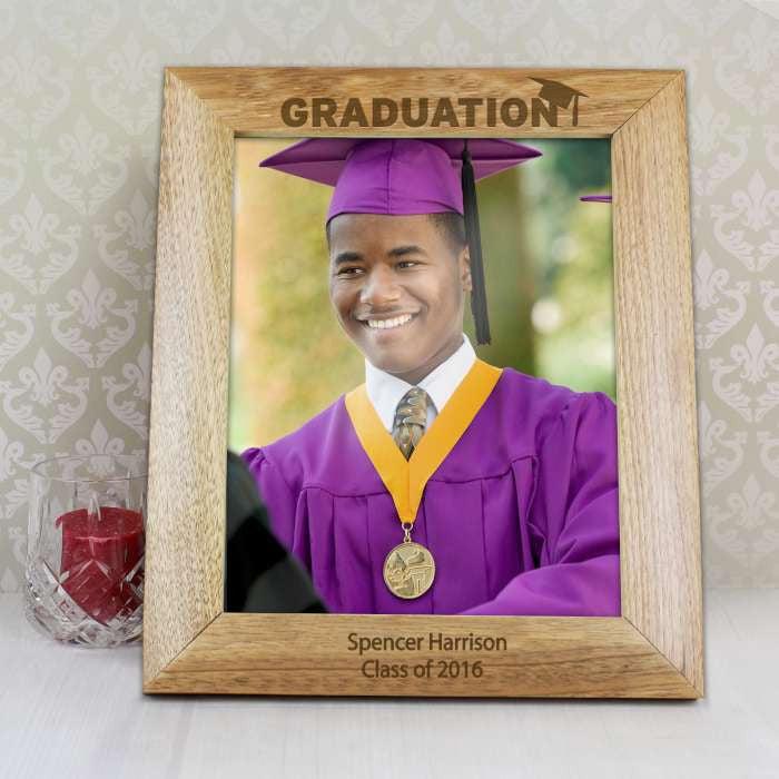 Buy Personalised 8x10 Graduation Wooden Photo Frame
