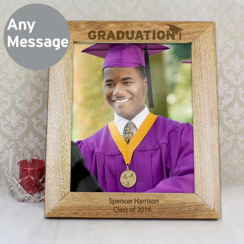 Personalised 10x8 Graduation Wooden Photo Frame - Shane Todd Gifts UK