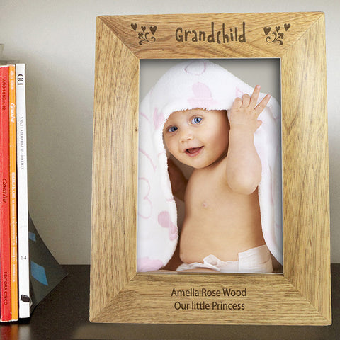 Buy Personalised 5x7 Grandchild Wooden Photo Frame