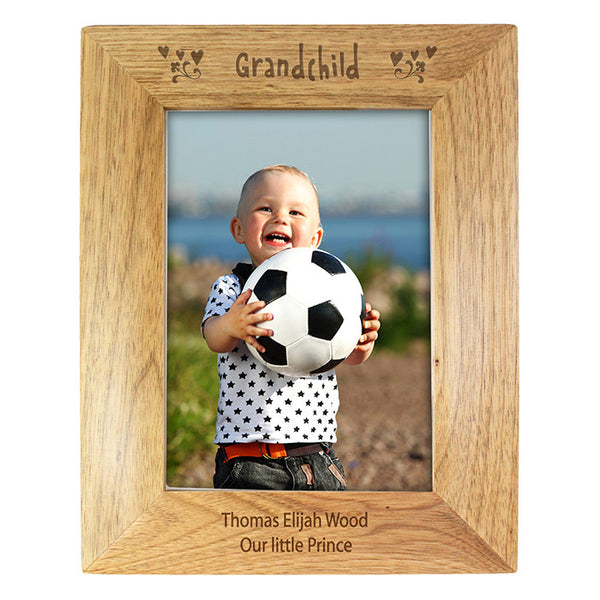Personalised 5x7 Grandchild Wooden Photo Frame - Shane Todd Gifts UK