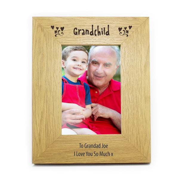 personalised-6x4-grandchild-wooden-photo-frame