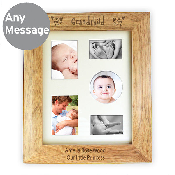Personalised 10x8 Grandchild Wooden Photo Frame - Shane Todd Gifts UK