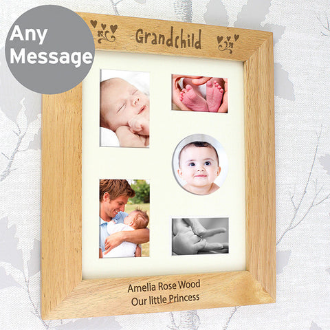 Personalised 8x10 Grandchild Wooden Photo Frame