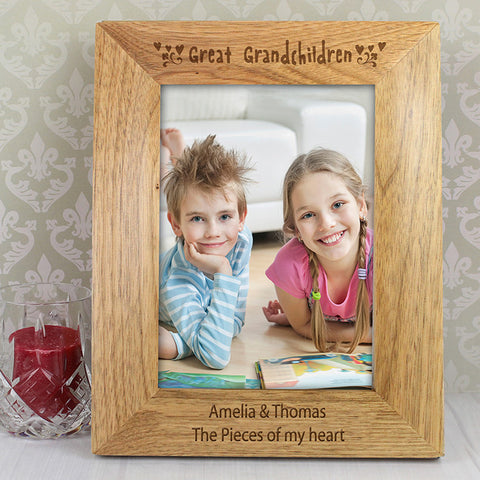 Buy Personalised 5x7 Great Grandchilden Wooden Photo Frame