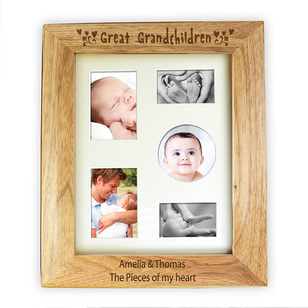 personalised-10x8-great-grandchildren-wooden-photo-frame