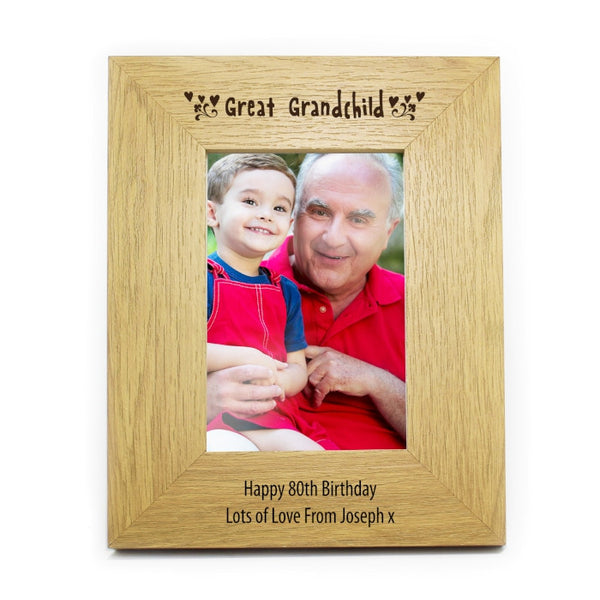 personalised-6x4-great-grandchild-wooden-photo-frame