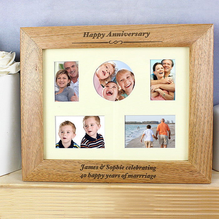 Personalised 10x8 Any Message Wooden Photo Frame