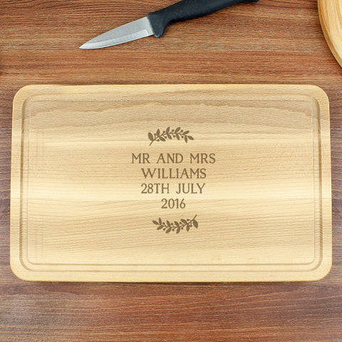 Buy Personalised Wreath Chopping Board