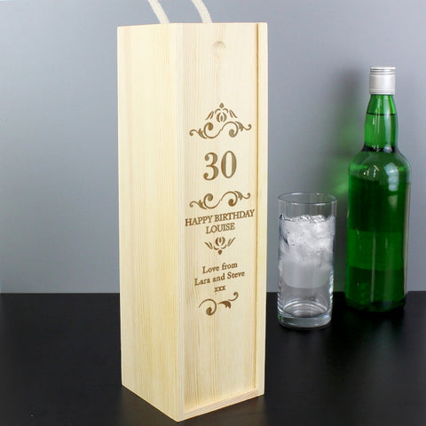 Buy Personalised Elegant Number Bottle Presentation Box