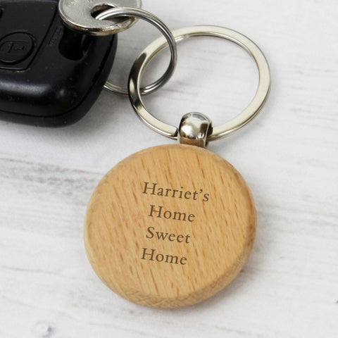 Buy Personalised Wooden Keyring