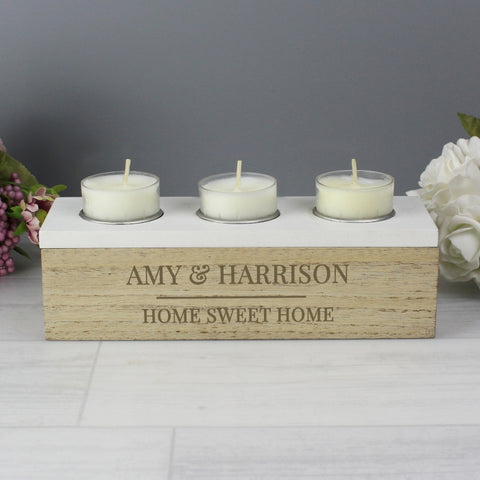 Personalised Classic Tea Light Box