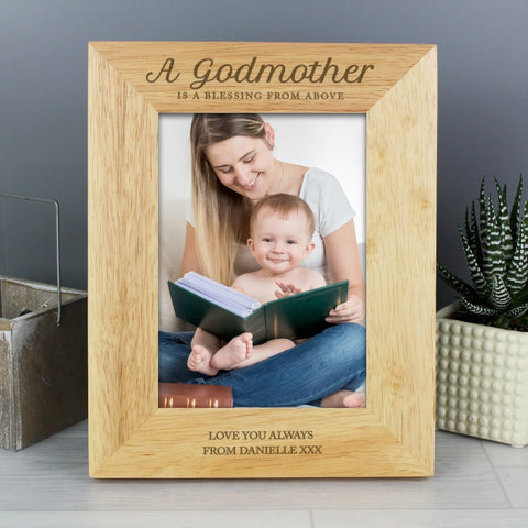 Buy Personalised Godmother Wooden 5x7 Photo Frame
