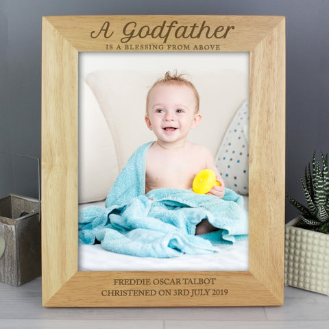 Buy Personalised Godfather 8x10 Wooden Photo Frame
