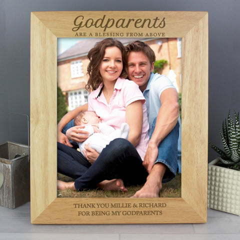 Buy Personalised Godparents Wooden 8x10 Photo Frame