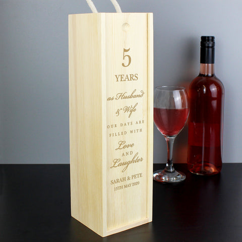 Anniversary Bottle Presentation Box - Next Day Delivery