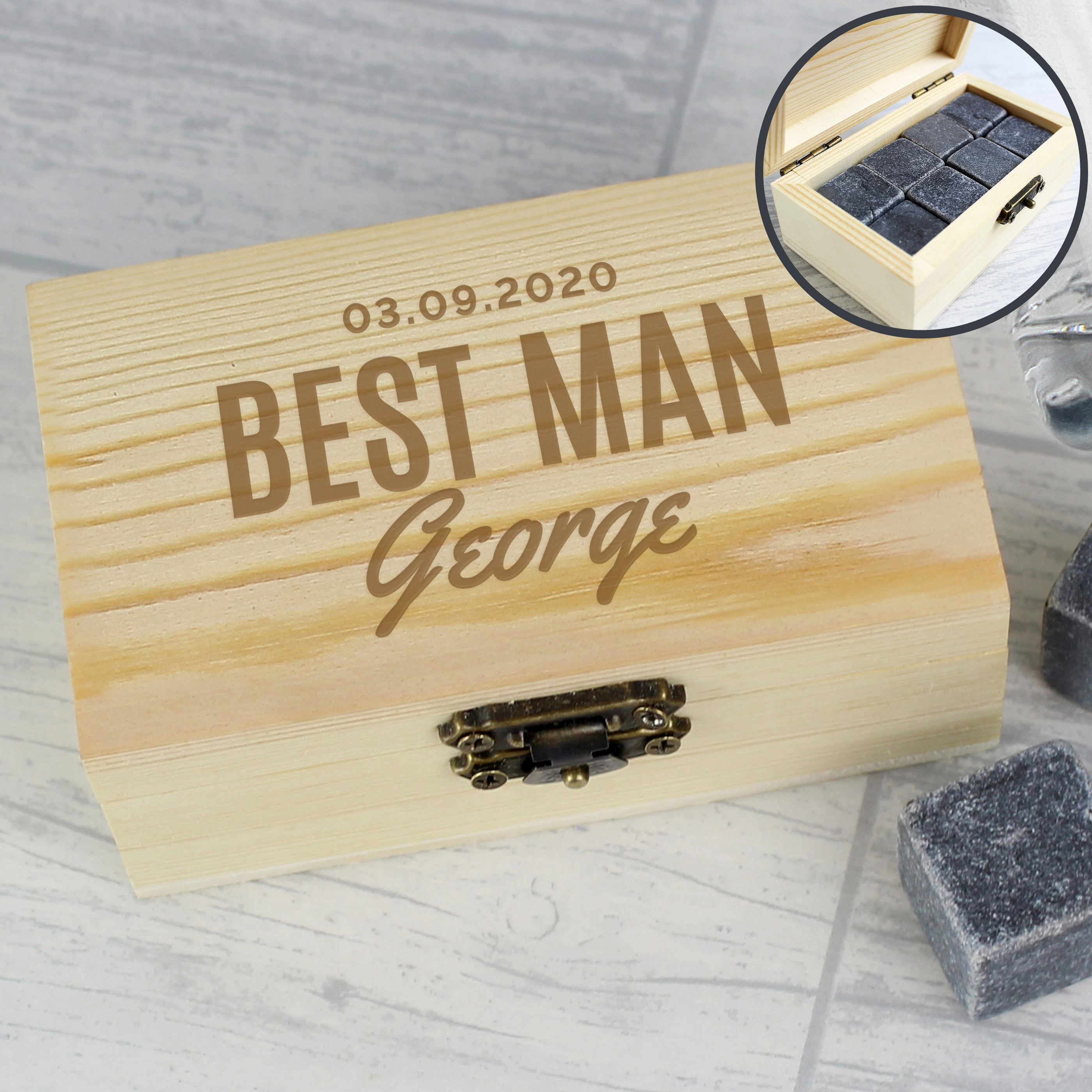 Personalised Whisky Stones, Whisky by Low Cost Gifts