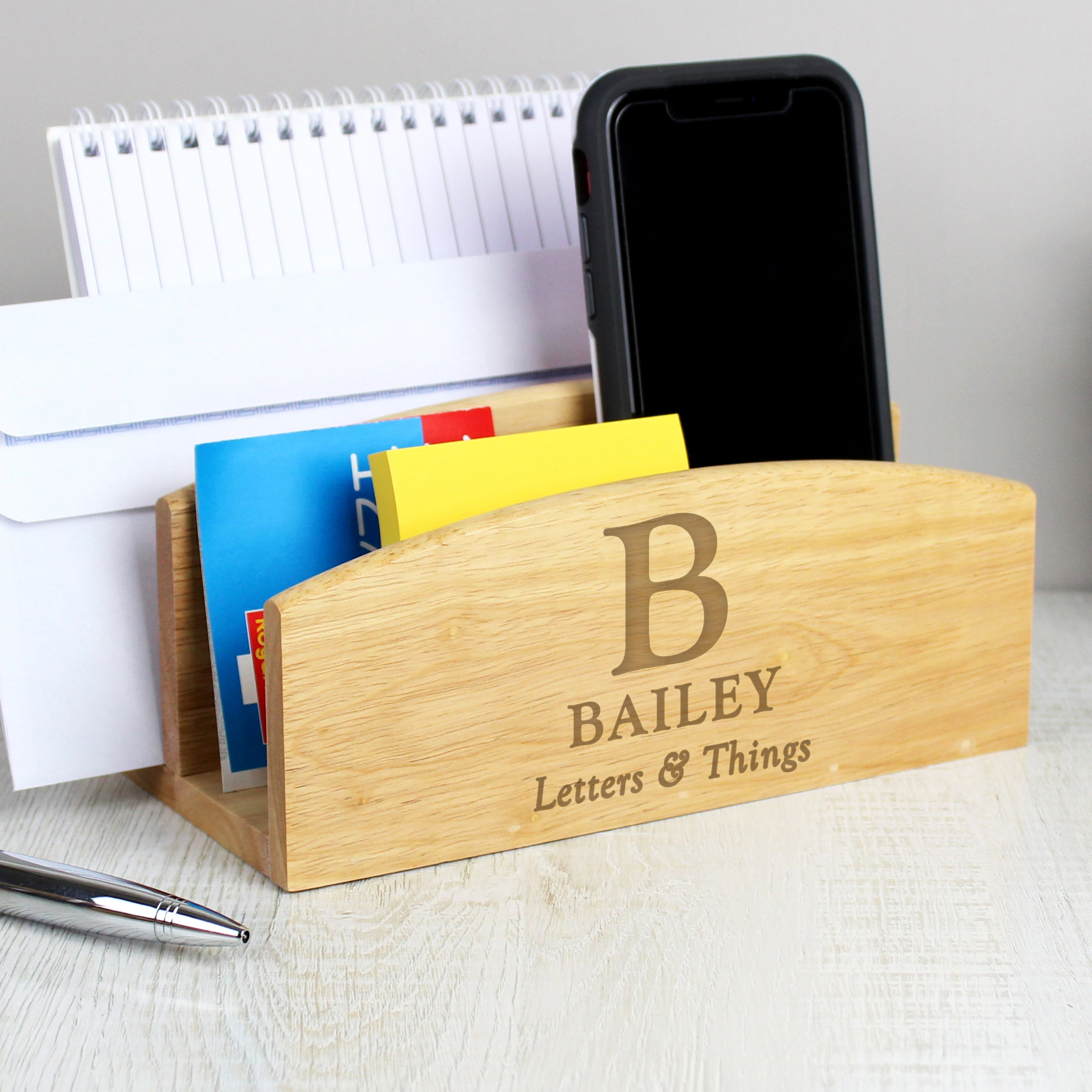 Personalised Initial & Message Wooden Letter Rack, Craft Shapes & Bases by Low Cost Gifts