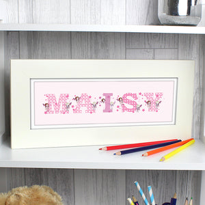 Personalised FAIRY LETTER Name Frame