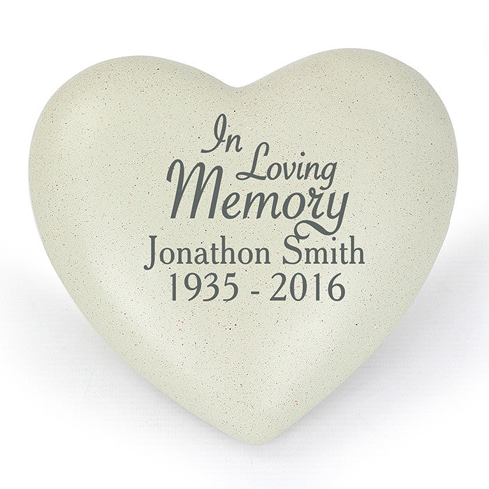 Personalised In Loving Memory Heart Memorial, Memorial Ceremony Supplies by Gifts24-7