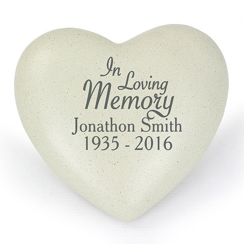 Buy Personalised In Loving Memory Heart Memorial