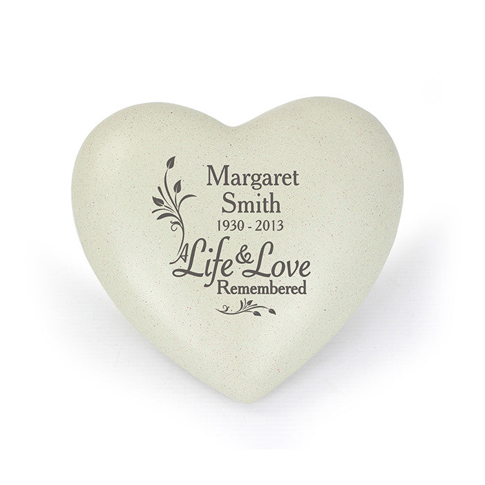 Personalised Life & Love Heart Memorial, Memorial Ceremony Supplies by Gifts24-7