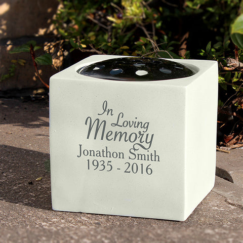 Buy Personalised In Loving Memory Memorial Vase