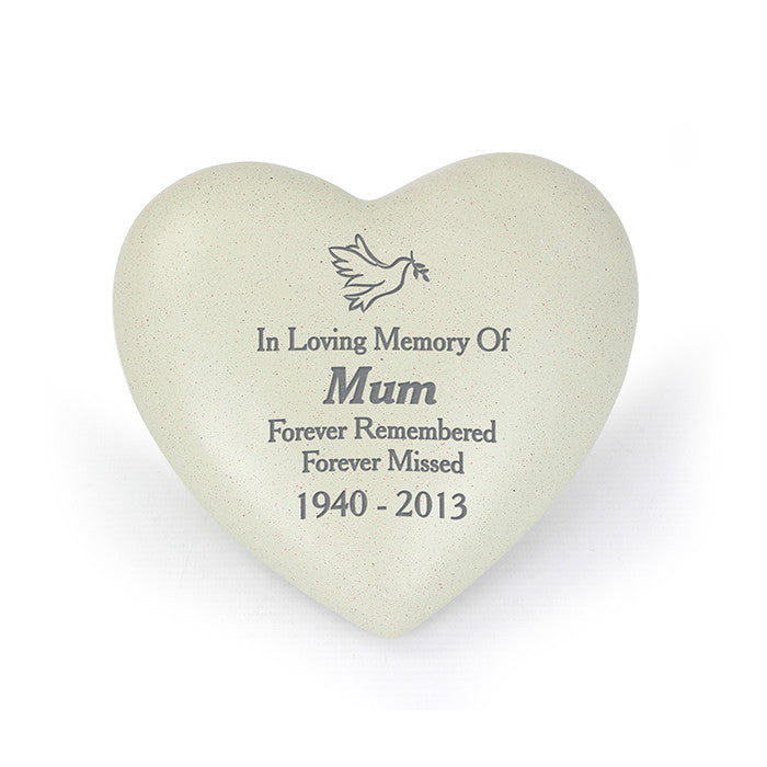 Personalised Dove Heart Memorial, Memorial Ceremony Supplies by Gifts24-7