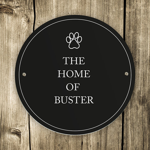 Personalised Paw Prints Pet Sign | ShaneToddGifts.co.uk