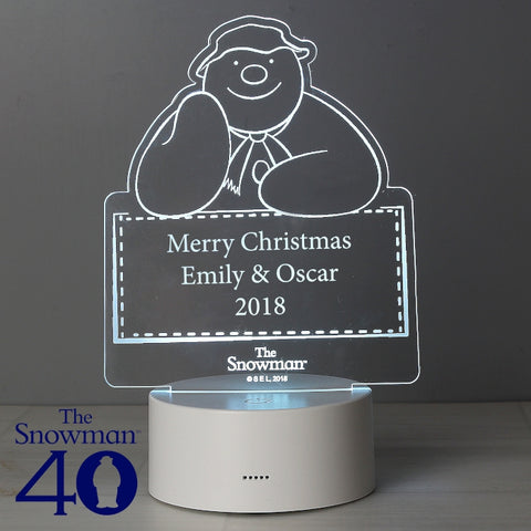 Buy Personalised The Snowman LED Colour Changing Decoration & Night Light