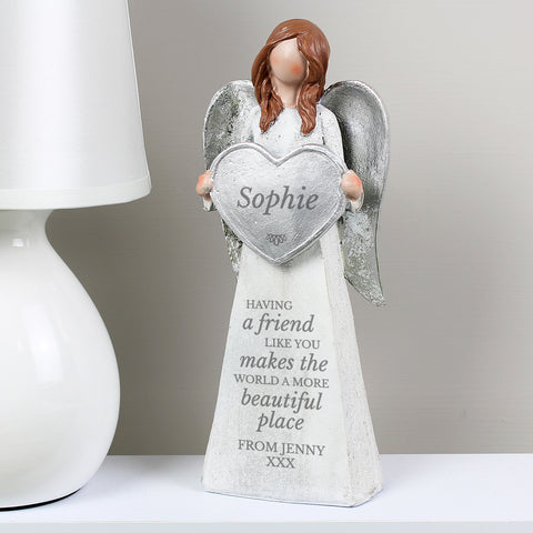 Personalised 'A Friend Like You' Angel Ornament